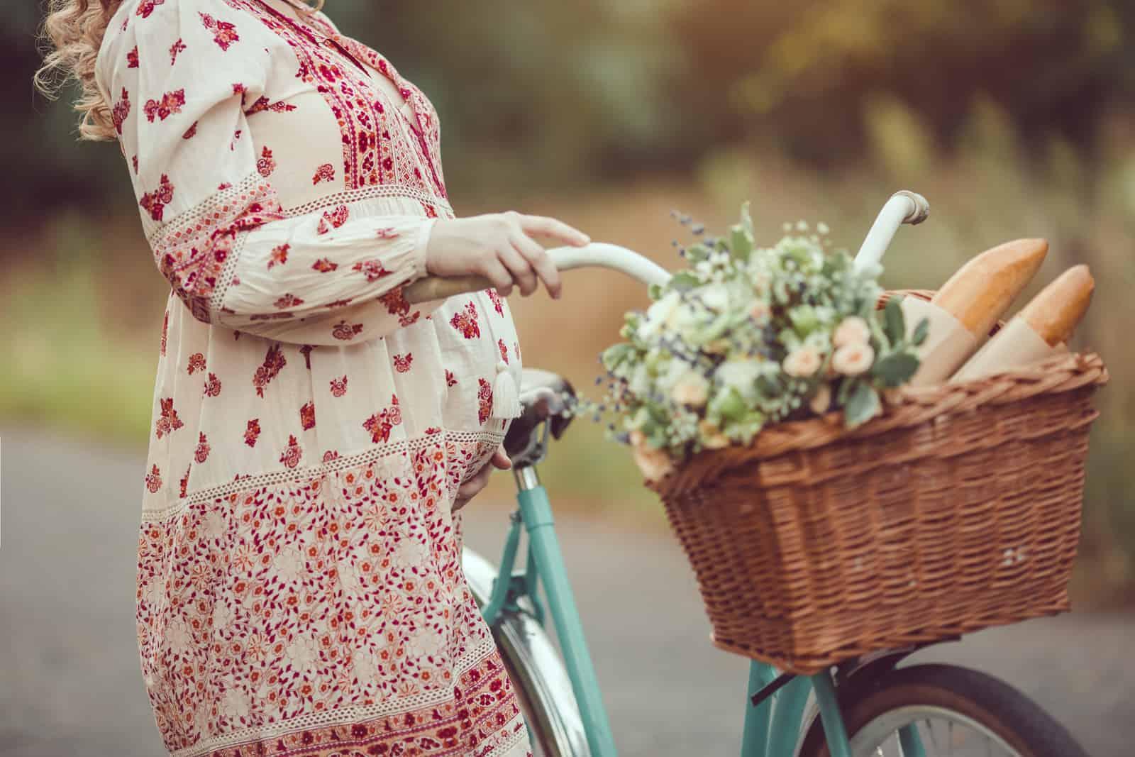 woman biking when pregnant