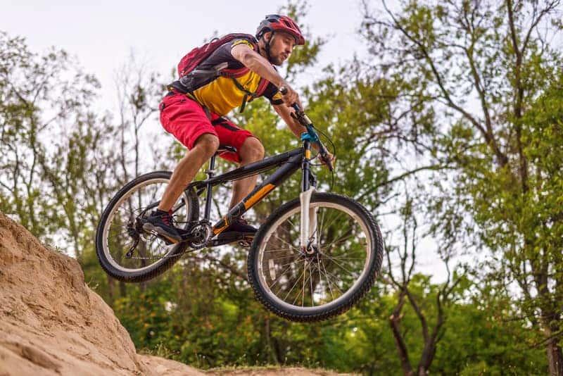 cycling doing enduro mountain biking
