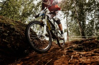 downhill mountain biking in rough terrain