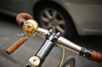 gold bike bell installed
