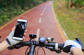 bike gps tracker on the road