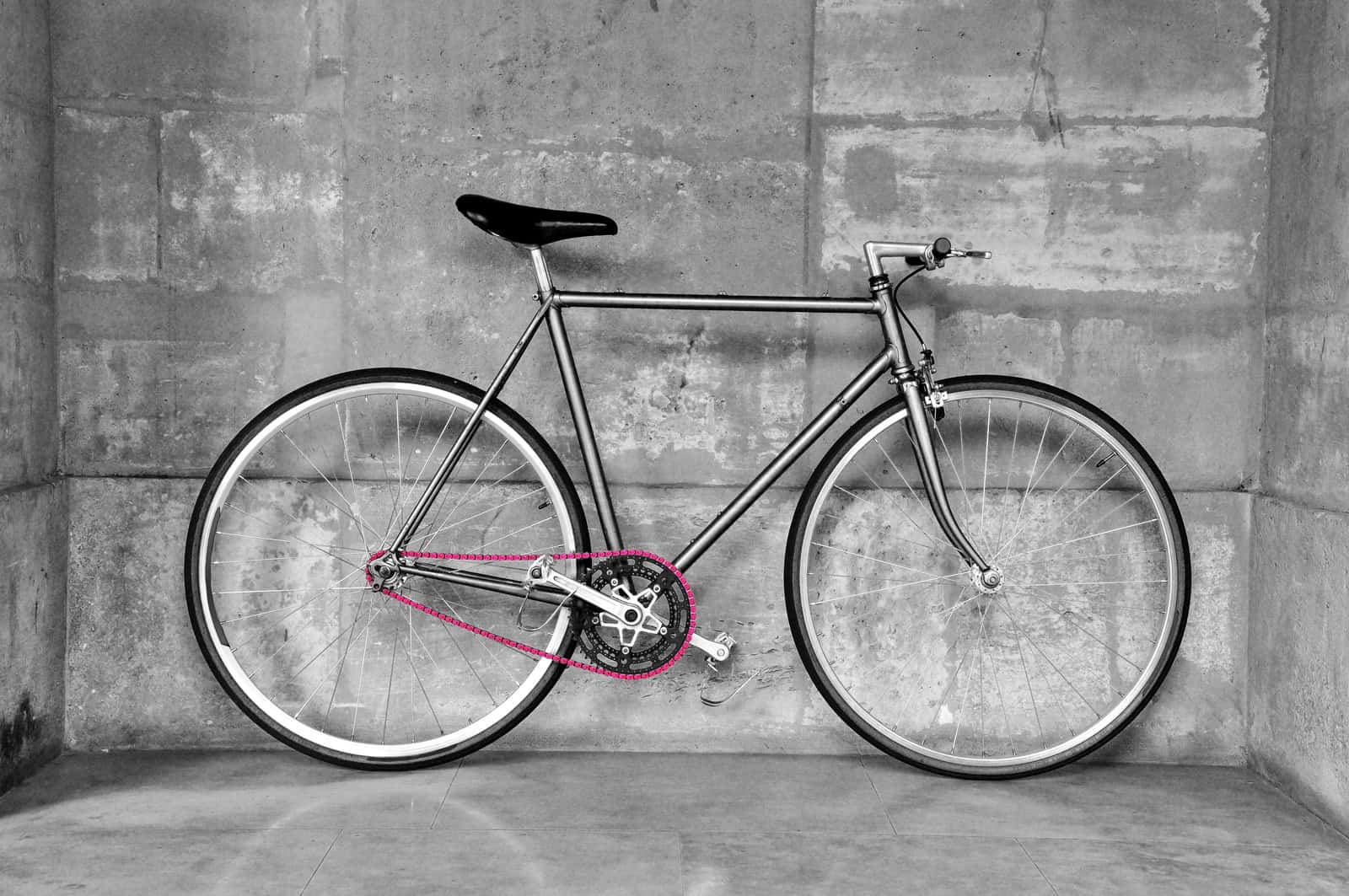white and black single speed bikes