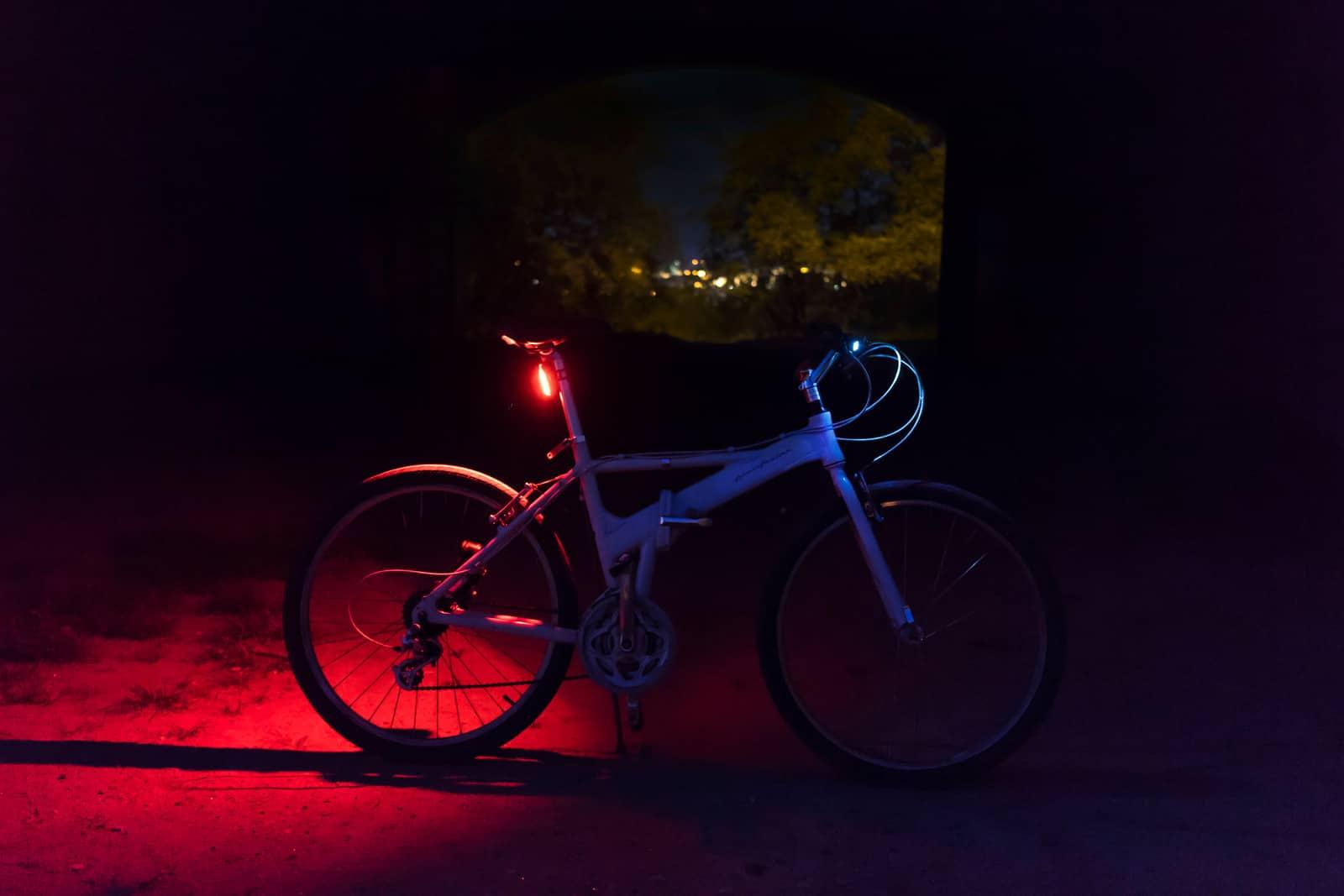 bike wheel lights at night