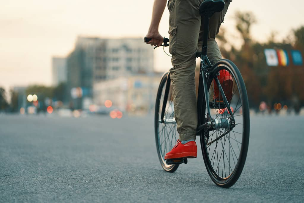 man riding on urban bikes daily
