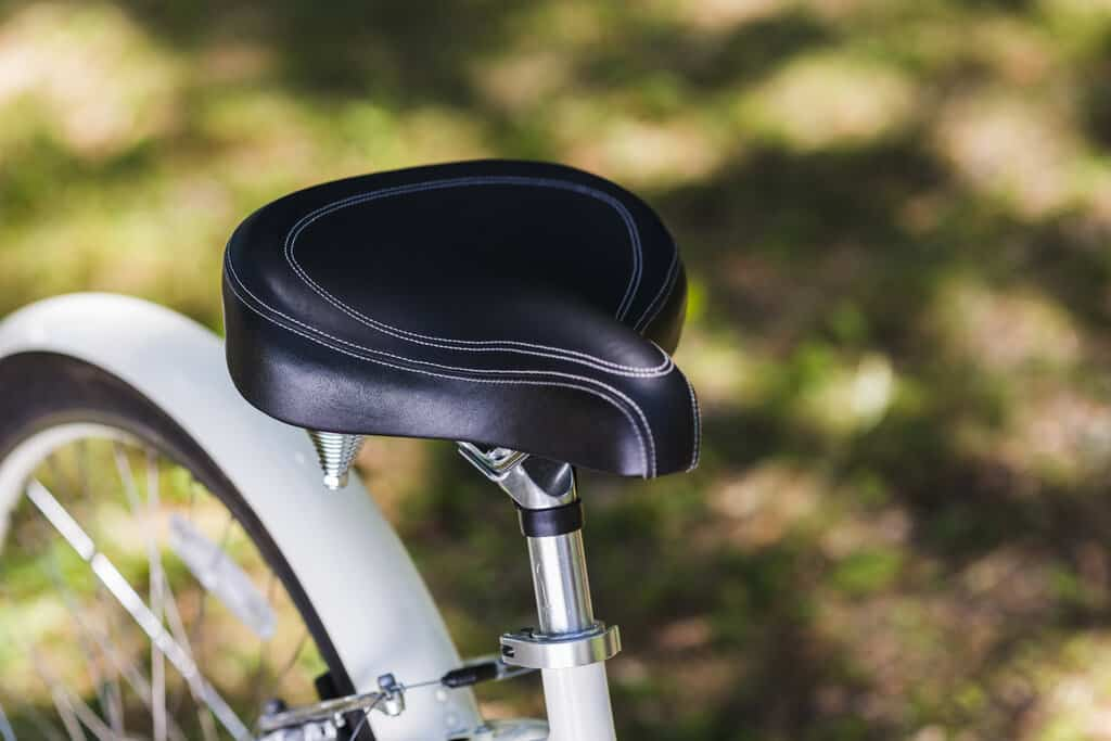 quality stitched bicycle seat
