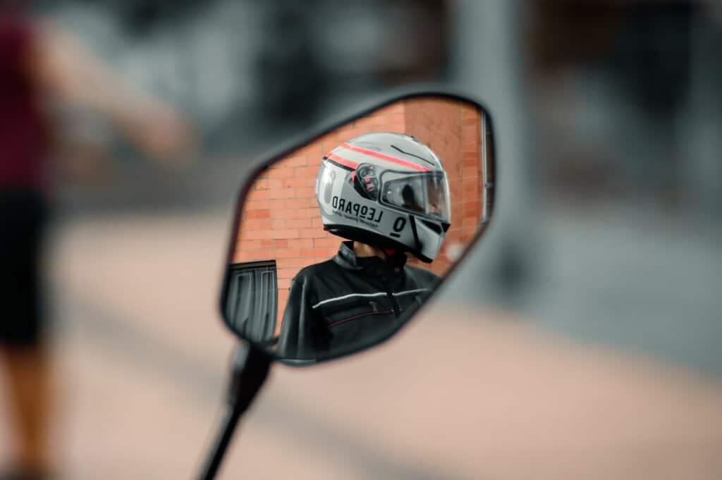 bike helmet mirror to install